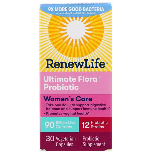 Renew Life, Women's Care, Ultimate Flora Probiotic, 90 Billion Live Cultures, 30 Vegetarian Capsules Review