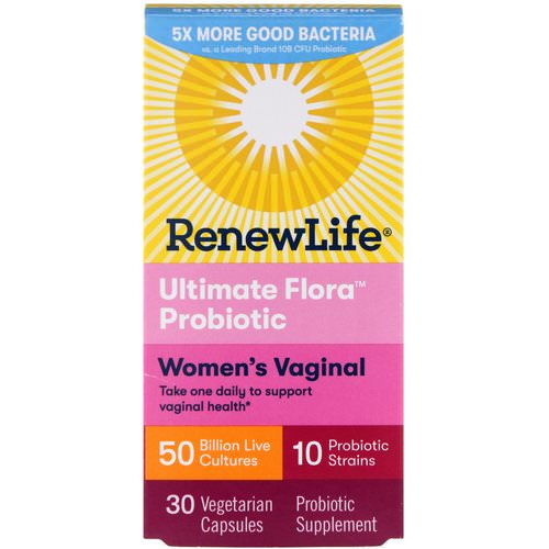 Renew Life, Women's Vaginal, Ultimate Flora Probiotic, 50 Billion Live Cultures, 30 Vegetable Capsules Review