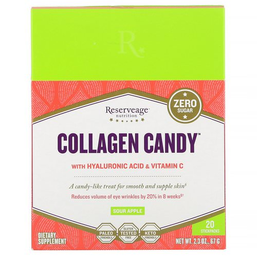 ReserveAge Nutrition, Collagen Candy, Sour Apple, 20 Stickpacks, 2.3 oz (67 g) Review