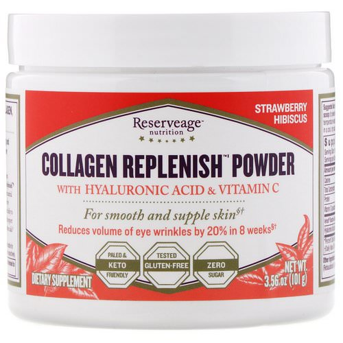 ReserveAge Nutrition, Collagen Replenish Powder, Strawberry Hibiscus, 3.56 oz (101 g) Review