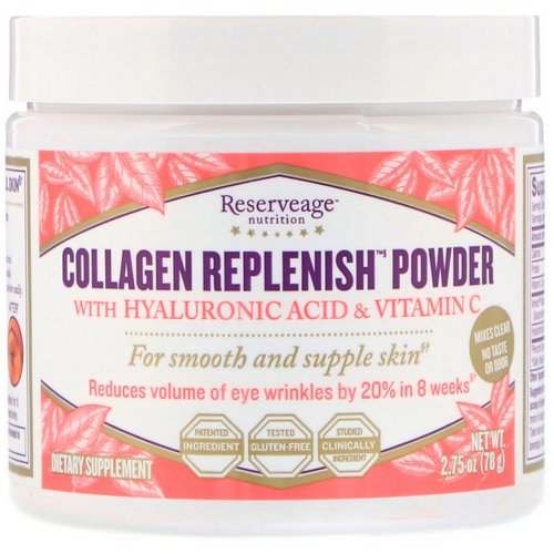 ReserveAge Nutrition, Collagen Replenish Powder with Hyaluronic Acid & Vitamin C, 2.75 oz (78 g) Review