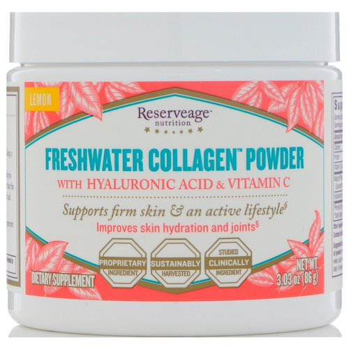 ReserveAge Nutrition, Freshwater Collagen Powder with Hyaluronic Acid & Vitamin C, Lemon, 3.03 oz (86 g) Review