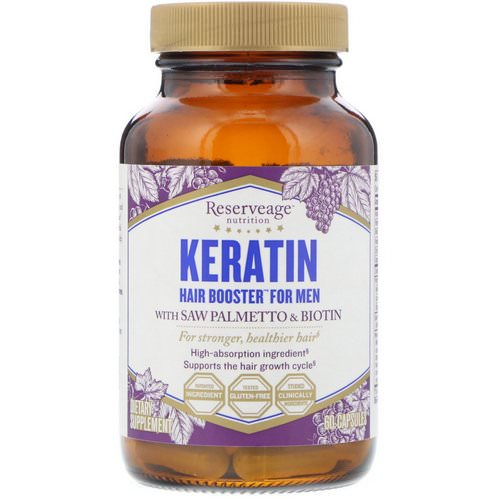 ReserveAge Nutrition, Keratin Hair Booster for Men, 60 Capsules Review