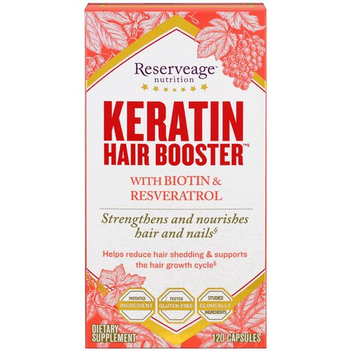 ReserveAge Nutrition, Keratin Hair Booster, With Biotin & Resveratrol, 120 Capsules Review