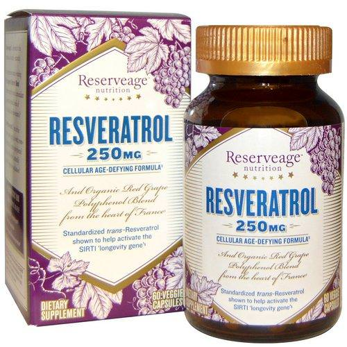 ReserveAge Nutrition, Resveratrol, Cellular Age-Defying Formula, 250 mg, 60 Veggie Caps Review