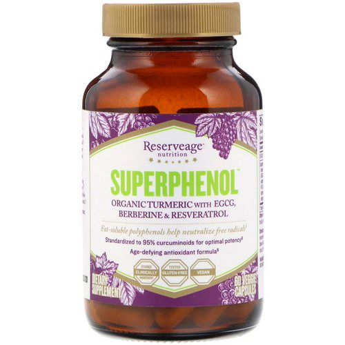 ReserveAge Nutrition, SuperPhenol, 60 Veggie Capsules Review