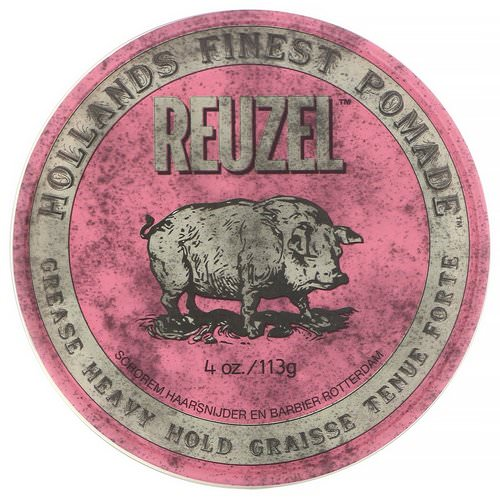 Reuzel, Pink Pomade, Grease, Heavy Hold, 4 oz (113 g) Review
