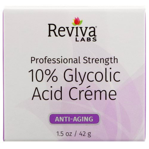 Reviva Labs, 10% Glycolic Acid Cream, Anti-Aging, 1.5 oz (42 g) Review