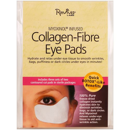 Reviva Labs, Collagen-Fibre Eye Pads, 3 Sets of Two Contoured Pads Review