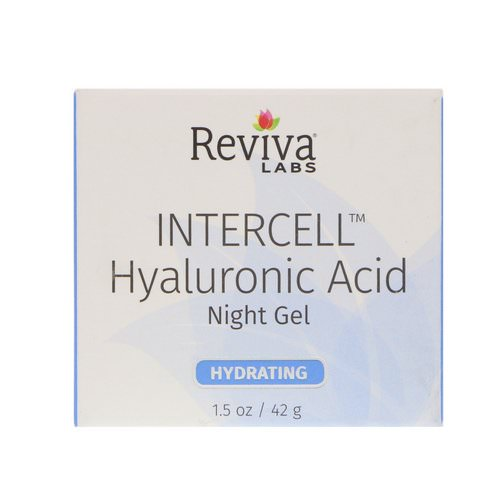 Reviva Labs, InterCell, Hyaluronic Acid Night Gel, Hydrating, 1.5 oz (42 g) Review