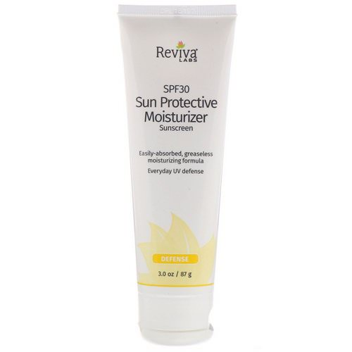 Reviva Labs, Sun Protective Moisturizer Sunscreen, SPF 30, 3.0 oz (87 g) Review