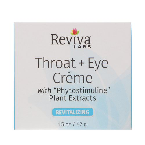 Reviva Labs, Throat + Eye Cream, 1.5 oz (41 g) Review