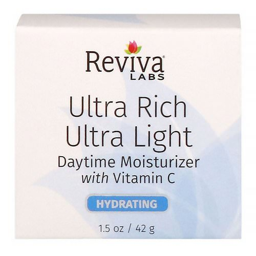 Reviva Labs, Ultra Rich Ultra Light Daytime Moisturizer with Vitamin C, 1.5 oz (42 g) Review