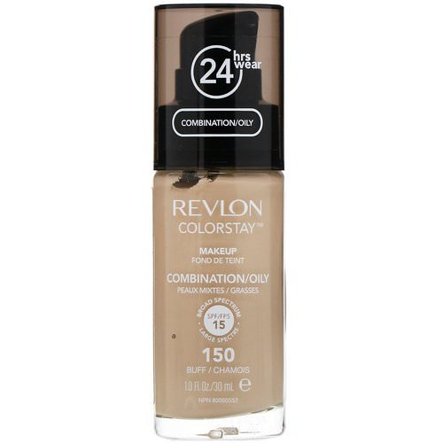 Revlon, Colorstay, Makeup, Combination/Oily, 150 Buff, 1 fl oz (30 ml) Review