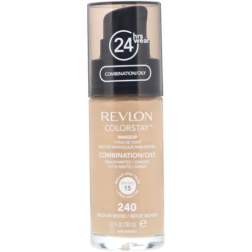 Revlon, Colorstay, Makeup, Combination/Oily, 240 Medium Beige, 1 fl oz (30 ml) Review
