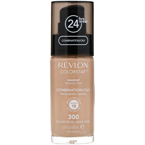 Revlon, Colorstay, Makeup, Combination/Oily, 300 Golden Beige, 1 fl oz (30 ml) Review