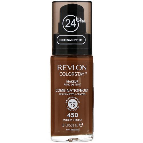 Revlon, Colorstay, Makeup, Combination/Oily, 450 Mocha, 1 fl oz (30 ml) Review