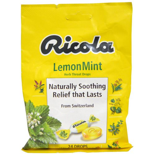 Ricola, Herb Throat Drops, Lemon Mint, 24 Drops Review