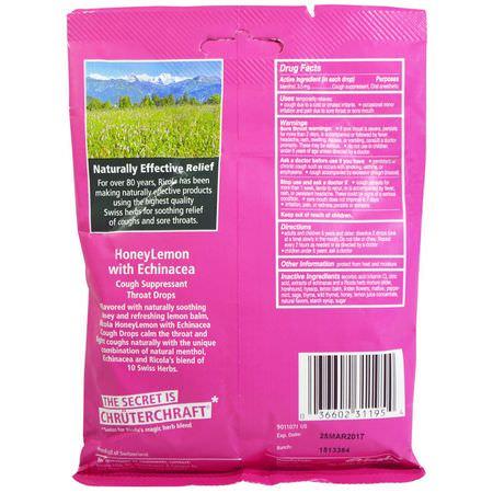 Ricola Honeylemon Echinacea Cough Suppressant