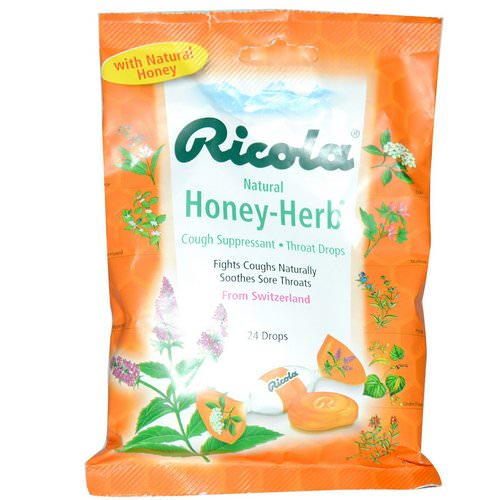 Ricola, Natural Honey Herb, 24 Drops Review