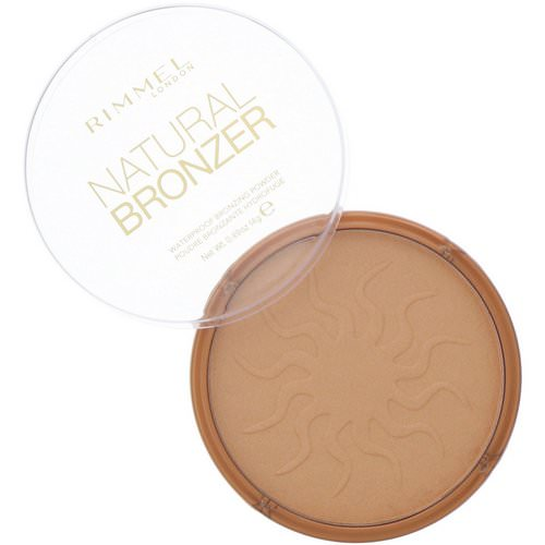 Rimmel London, Natural Bronzer, Waterproof Bronzing Powder, 021 Sun Light, 0.49 oz (14 g) Review