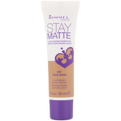 Rimmel London, Stay Matte Liquid Mousse Foundation, 303 True Nude, 1 fl oz (30 ml) Review