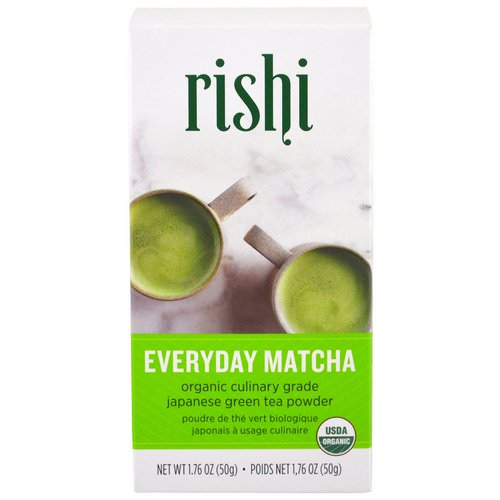Rishi Tea, Organic Everyday Matcha Powder, 1.76 oz (50 g) Review