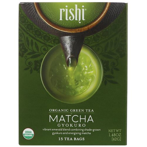 Rishi Tea, Organic Green Tea, Matcha Gyokuro, 15 Tea Bags, 1.48 oz (42 g) Review