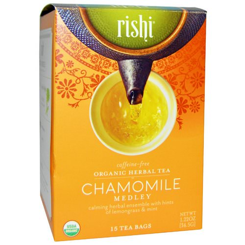 Rishi Tea, Organic Herbal Tea, Chamomile Medley, Caffeine-Free, 15 Tea Bags, 1.22 oz (34.5 g) Review