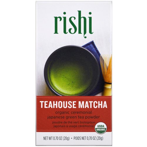Rishi Tea, Teahouse Matcha, Organic Ceremonial Japanese Green Tea Powder, 0.70 oz (20 g) Review