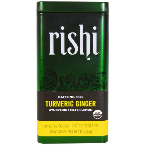 Rishi Tea, Turmeric Ginger, Organic Loose Leaf Herbal Tea, Ayurvedic + Meyer Lemon, 2.47 oz (70 g) Review
