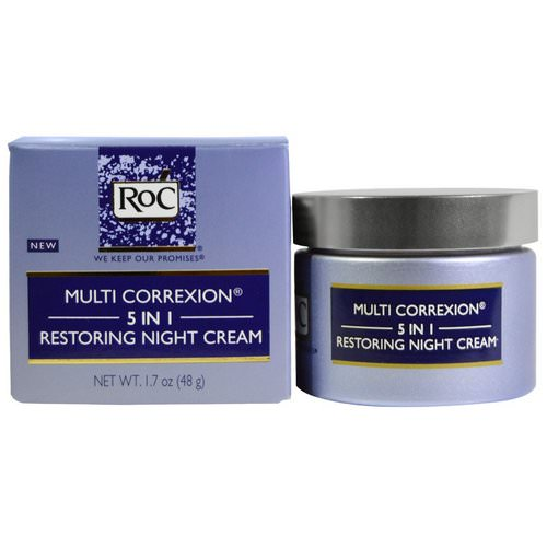 RoC, Multi Correxion, 5 In 1, Restoring Night Cream, 1.7 oz (48 g) Review