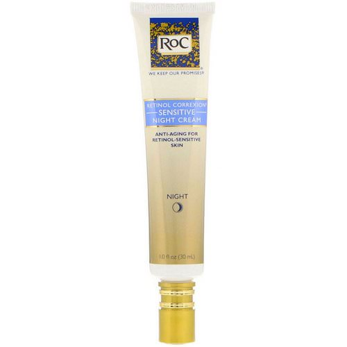 RoC, Retinol Correxion, Sensitive Night Cream, 1.0 fl oz (30 ml) Review