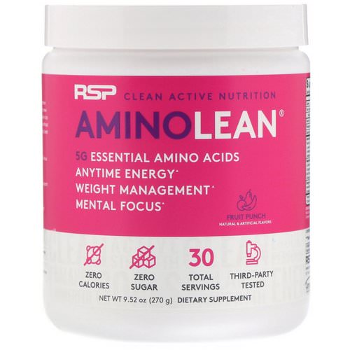 RSP Nutrition, AminoLean, Fruit Punch, 9.52 oz (270 g) Review