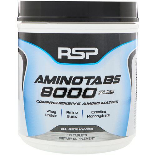 RSP Nutrition, Amino Tabs 8000 Plus, 325 Tablets Review