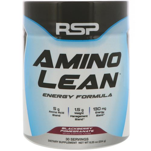 RSP Nutrition, AminoLean, Weight Management + Energy Formula, Blackberry Pomegranate, 8.25 oz (234 g) Review