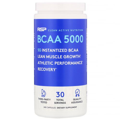 RSP Nutrition, BCAA 5000, 5,000 mg, 240 Capsules Review