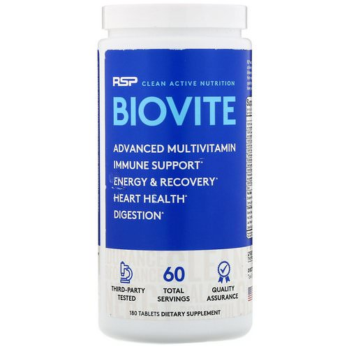 RSP Nutrition, Biovite Advanced Multivtamin, 180 Tablets Review