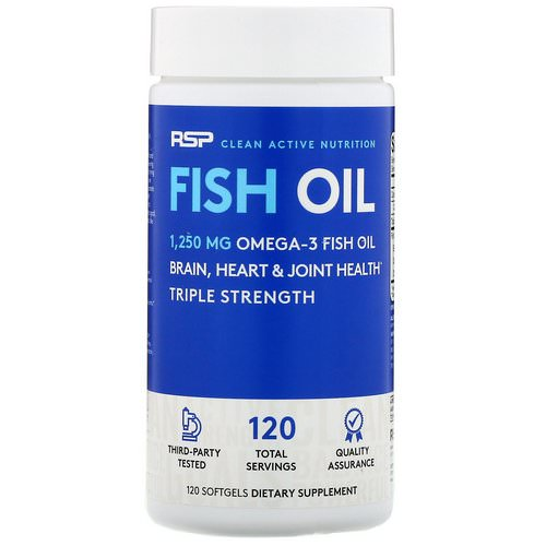 RSP Nutrition, Fish Oil, 120 Softgels Review