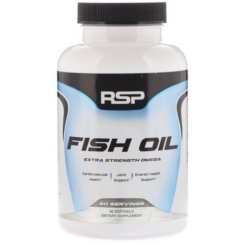 RSP Nutrition, Fish Oil, Extra Strength Omega, 60 Softgels Review