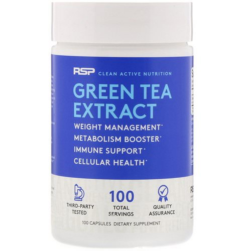 RSP Nutrition, Green Tea Extract, 500 mg, 100 Capsules Review