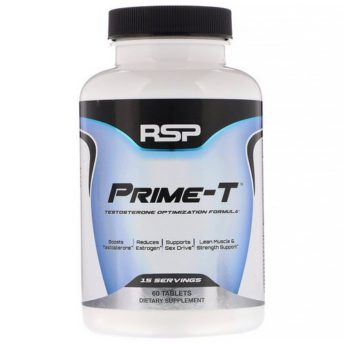 RSP Nutrition, Prime-T, Testosterone Booster, 60 Tablets Review
