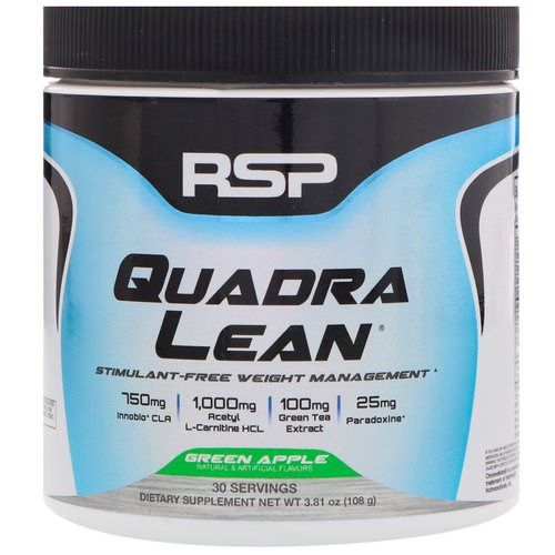 RSP Nutrition, Quadra Lean, Stimulant-Free Weight Management, Green Apple, 3.81 oz (108 g) Review