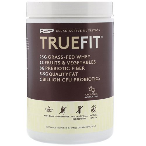 RSP Nutrition, Truefit, Grass-Fed Whey Protein Shake, Chocolate, 2 lbs (940 g) Review