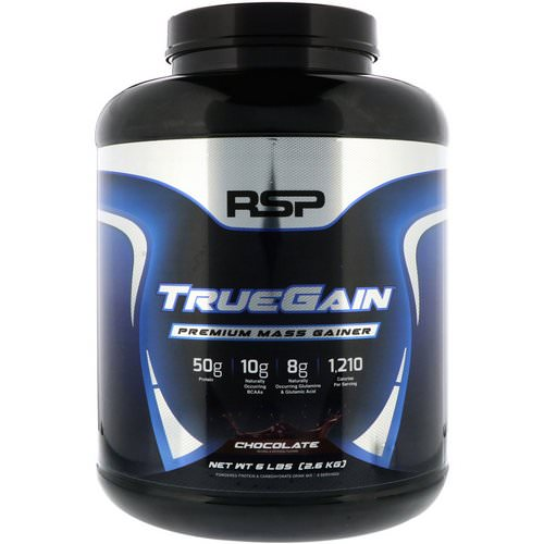 RSP Nutrition, TrueGain Premium Mass Gainer, Chocolate, 6 lbs (2.6 kg) Review