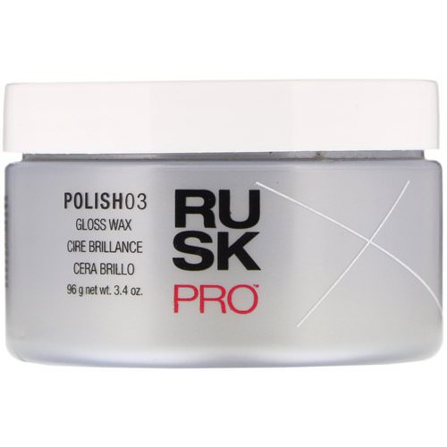 Rusk, Pro, Polish 03, Gloss Wax, 3.4 oz (96 g) Review