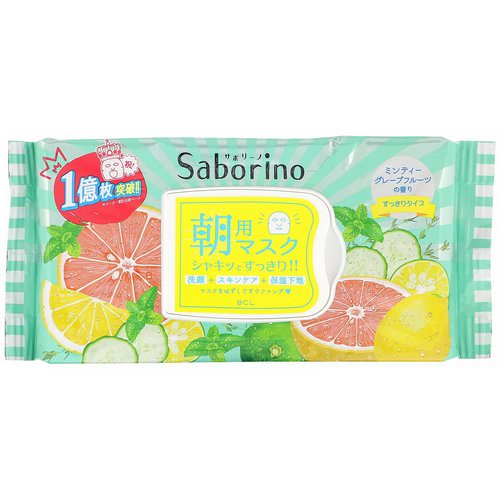 Saborino, Morning Face Mask Fresh, 32 Sheets Review