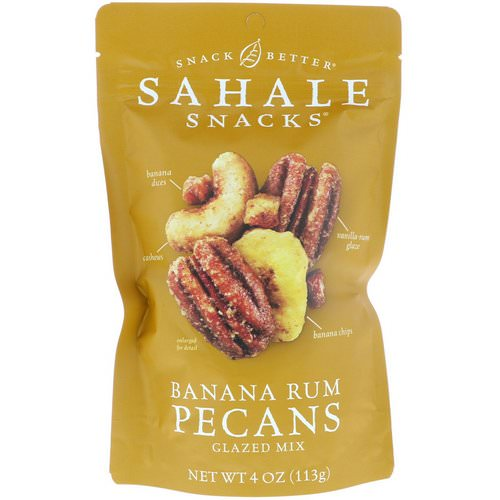 Sahale Snacks, Glazed Mix, Banana Rum Pecans, 4 oz (113 g) Review