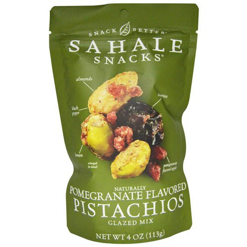 Sahale Snacks, Glazed Mix, Naturally Pomegranate Flavored Pistachios, 4 oz (113 g) Review