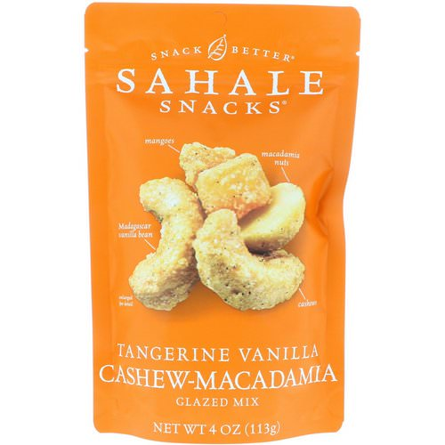 Sahale Snacks, Glazed Mix, Tangerine Vanilla Cashew-Macadamia, 4 oz (113 g) Review